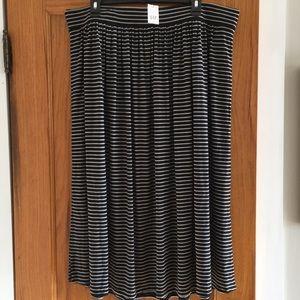 Striped Gap Midi Skirt